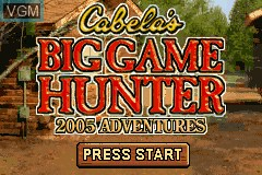 Title screen of the game Cabela's Big Game Hunter - 2005 Adventures on Nintendo GameBoy Advance
