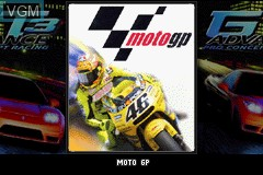 Title screen of the game 2 Games in 1 - GT Advance 3 & Moto GP on Nintendo GameBoy Advance