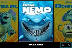 Title screen of the game 2 Games in 1 - Monstrous SA & Buscando a Nemo on Nintendo GameBoy Advance