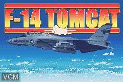 Title screen of the game F-14 Tomcat on Nintendo GameBoy Advance