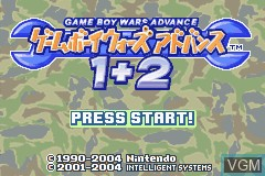 Title screen of the game Gameboy Wars Advance 1 + 2 on Nintendo GameBoy Advance