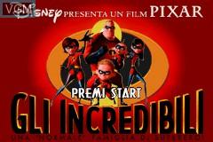 Title screen of the game Incredibili, Gli - Una 'Normale' Famiglia di Supereroi on Nintendo GameBoy Advance