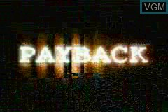 Title screen of the game Payback on Nintendo GameBoy Advance