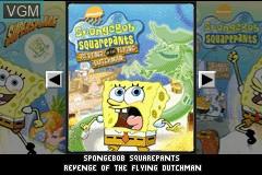 Title screen of the game 2 Games in 1 - SpongeBob SquarePants - SuperSponge & Revenge of the Flying Dutchman on Nintendo GameBoy Advance