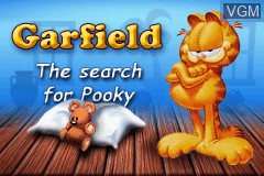 Title screen of the game Garfield - The Search for Pooky on Nintendo GameBoy Advance