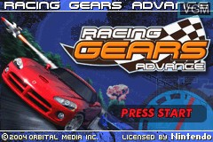 Title screen of the game Racing Gears Advance on Nintendo GameBoy Advance