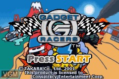 Title screen of the game Gadget Racers on Nintendo GameBoy Advance