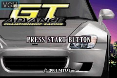 Title screen of the game GT Advance - Championship Racing on Nintendo GameBoy Advance