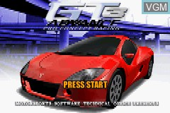 Title screen of the game GT Advance 3 - Pro Concept Racing on Nintendo GameBoy Advance