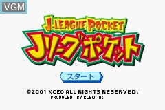 Title screen of the game J.League Pocket on Nintendo GameBoy Advance