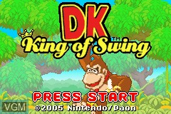 Title screen of the game DK - King of Swing on Nintendo GameBoy Advance