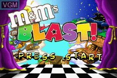 Title screen of the game M&M's - Blast! on Nintendo GameBoy Advance