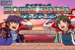Title screen of the game Zoids Saga - Fuzors on Nintendo GameBoy Advance