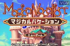 Title screen of the game Magical Vacation on Nintendo GameBoy Advance