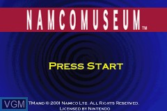 Title screen of the game Namco Museum on Nintendo GameBoy Advance