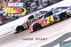 Title screen of the game NASCAR Heat 2002 on Nintendo GameBoy Advance