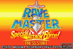 Title screen of the game Rave Master Special Attack Force on Nintendo GameBoy Advance