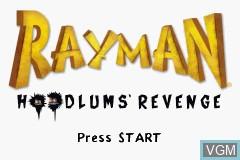 Title screen of the game Rayman - Hoodlum's Revenge on Nintendo GameBoy Advance