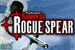 Title screen of the game Rainbow Six - Rogue Spear on Nintendo GameBoy Advance