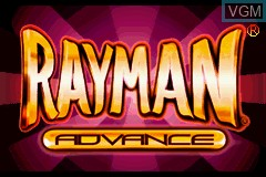 Title screen of the game Rayman Advance on Nintendo GameBoy Advance