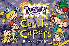 Title screen of the game Rugrats - Castle Capers on Nintendo GameBoy Advance