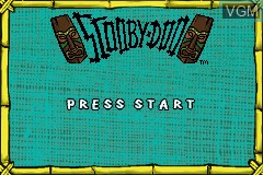 Title screen of the game Scooby-Doo on Nintendo GameBoy Advance