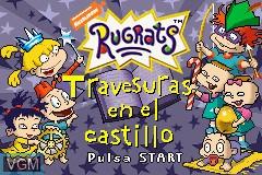 Title screen of the game Rugrats - Travesuras en el Castillo on Nintendo GameBoy Advance