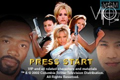 Title screen of the game V.I.P. on Nintendo GameBoy Advance