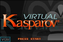 Title screen of the game Virtual Kasparov on Nintendo GameBoy Advance