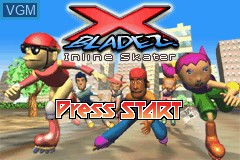 Title screen of the game X-Bladez - Inline Skater on Nintendo GameBoy Advance
