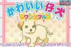 Title screen of the game Kawaii Koinu Wonderful on Nintendo GameBoy Advance