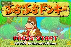 Title screen of the game Bura Bura Donkey on Nintendo GameBoy Advance