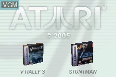 Title screen of the game 2 in 1 - V-Rally 3 + Stuntman on Nintendo GameBoy Advance