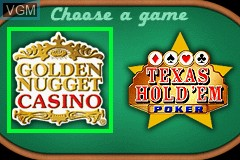 Title screen of the game 2 Games in 1 - Golden Nugget Casino + Texas Hold 'em Poker on Nintendo GameBoy Advance