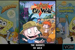 Title screen of the game 2 Games in 1 - Rugrats - Go Wild + SpongeBob SquarePants - SuperSponge on Nintendo GameBoy Advance