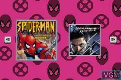 Title screen of the game 2 in 1 Game Pack - Spider-Man - Mysterio's Menace + X2 - Wolverine's Revenge on Nintendo GameBoy Advance