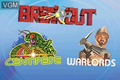 Title screen of the game 3 Games in One! - Breakout + Centipede + Warlords on Nintendo GameBoy Advance