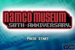 Title screen of the game Namco Museum - 50th Anniversary on Nintendo GameBoy Advance