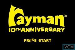 Title screen of the game Rayman 10th Anniversary - Rayman Advance & Rayman 3 on Nintendo GameBoy Advance