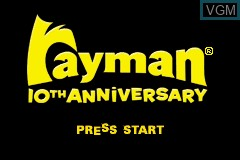 Title screen of the game Rayman - 10th Anniversary on Nintendo GameBoy Advance