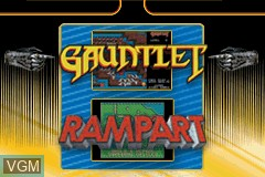 Title screen of the game 2 Games in One! - Gauntlet + Rampart on Nintendo GameBoy Advance