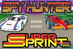 Title screen of the game 2 Games in One! - Spy Hunter + Super Sprint on Nintendo GameBoy Advance
