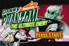 Title screen of the game Danny Phantom - The Ultimate Enemy on Nintendo GameBoy Advance
