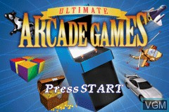 Title screen of the game Ultimate Arcade Games on Nintendo GameBoy Advance