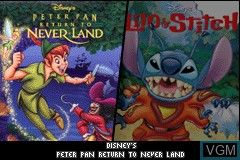 Title screen of the game 2 Disney Games - Lilo & Stitch 2 + Peter Pan - Return to Neverland on Nintendo GameBoy Advance