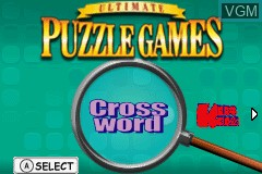Title screen of the game Ultimate Puzzle Games on Nintendo GameBoy Advance