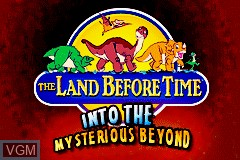 Title screen of the game Land Before Time, The - Into the Mysterious Beyond on Nintendo GameBoy Advance