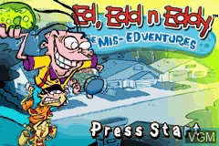 Title screen of the game Ed, Edd n Eddy - The Mis-Edventures on Nintendo GameBoy Advance
