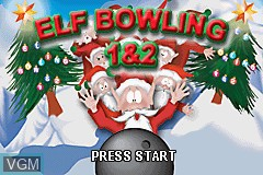Title screen of the game Elf Bowling 1 & 2 on Nintendo GameBoy Advance