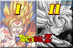 Title screen of the game 2 Games in 1 - Dragon Ball Z - The Legacy of Goku I & II on Nintendo GameBoy Advance